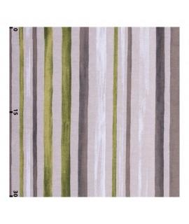 Декоративная ткань акварельные полосы зеленые