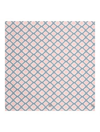 Ткань в ромбик розово-голубая