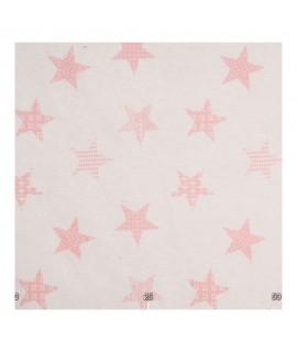 Ткань звездочки розовые