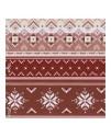 Ткань орнамент, бело-красная