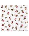 Ткань в мелкую розочку розовую