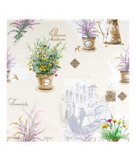 Декоративная ткань ботаника