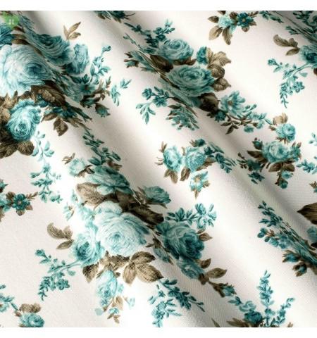Декоративная ткань лазурные цветы
