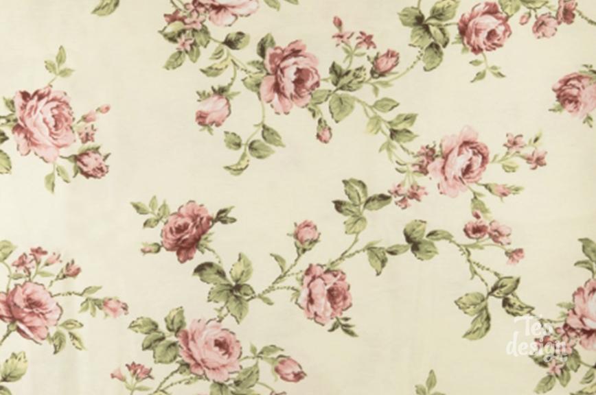Ткань с узором роз